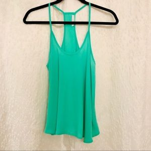 Lush from Nordstrom flowy tank in green size M